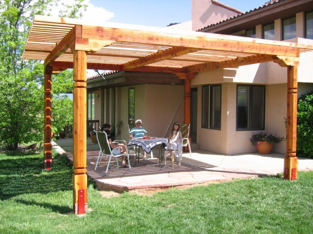 Rustic-solid-wood-handcrafted-pergola