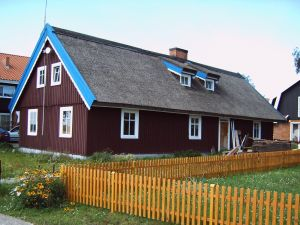 Typical Cottage On Curonian Spit